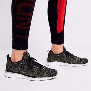 APL Techloom Pro Black + Rose Gold Sneakers